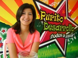 Miss Tingo María, Paquita Lao, conductora del programa