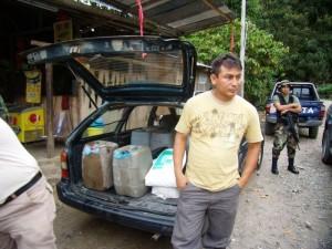 Detenido con insumos para el narcotráfico
