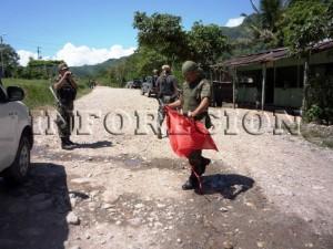 Fuerzas del orden retiraron de inmediato la propaganda senderista
