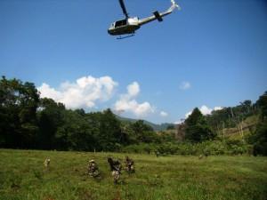 Se contó con el apoyo de helicópteros   de la Aviación Policial